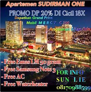 Jual Apartemen Sudirman One Residence TangCity