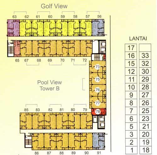 Jual Apartemen Puncak Bukit Golf Surabaya  2  3 Br