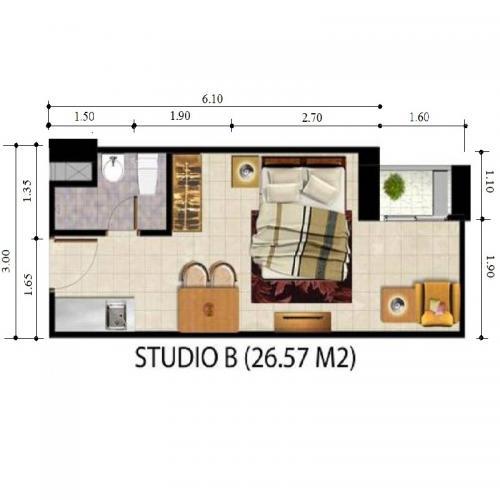 Jual Apartemen Tamansari Panoramic Bandung Studio Semi