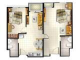DIJUAL Apartemen Silkwood Residence Alam Sutera – 2 KT + 2 KM (80 m2) Connecting Unit (1 BR Unit + 1 Studio) Fully Furnished