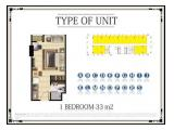 Jual CEPAT!!! Apartemen Menteng Park 1BR - 33m2 - FURNISHED