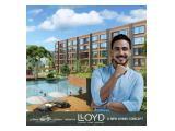 Dijual Apartemen Low Rise Lloyd Alam Sutera BSD, Tangerang – Dp 5% atau Cicil 36x