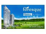 Dijual Apartemen Foresque Ragunan Selatan Jakarta - 2 BR 96 m2 Unfurnished + AC