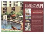Jual Apartemen Metropark Condominium Bekasi - Studio 24m2 Furnished