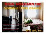 Dijual Murah Apartemen 1 BR Fully Furnished (size 37.63) - Signature Park Grande Cawang