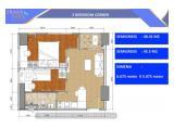 Jual Apartemen Transpark Cibubur 2 BR corner (tipe 48.45m2)