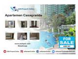 Dijual Apartemen Casa Grande 3 BR View Kolam dan Kota Unfurnised Lokasi Strategis by ASIK PROPERTY