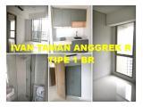 Dijual Cepat Murah Apartemen Taman Anggrek Residences - 1 BR 38 m2 Semi Furnished, Harga Termurah