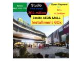 Studio - 20.41m² - Installment up to 60x