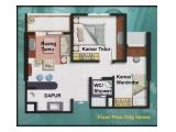 Dijual Apartemen City Home Kelapa Gading Square Mall of Indonesia 2BR 45 m2 Fully Furnished - Jakarta Utara