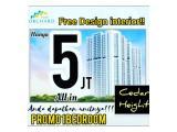 Dijual Apartemen Puri Orchard 1 Kamar Full Furnish Interior Plus Elektronik Cukup 5 Juta Langsung Huni Tanpa Dp dan Free Akad