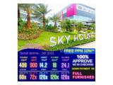 Apartment Sky House - FREE PPN - Full Furnished - bisa cicil ke developer sampai 120x