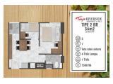 Dijual Termurah Apartemen Tokyo Riverside Type 2BR View Taman Dalam