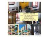 Dijual Apartment Menteng Square Jakarta Pusat - 1/2 Bedrooms